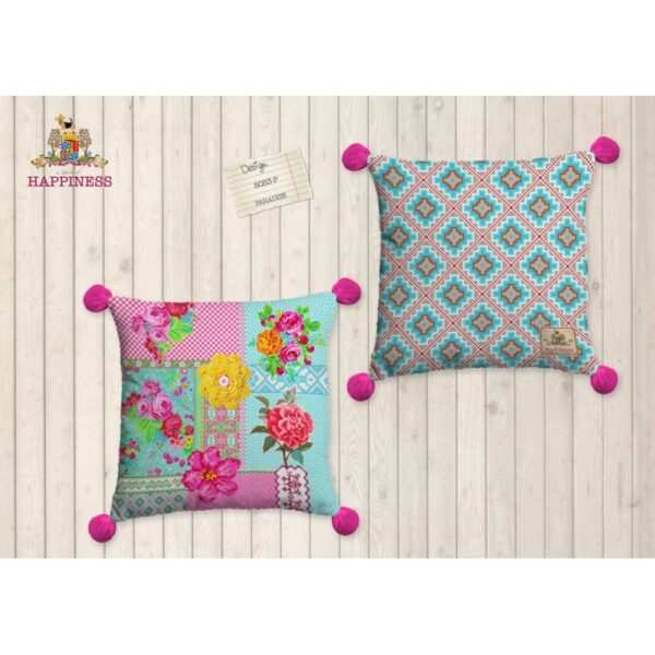 Gevuld Kussen Polyester Happiness Nr.8053 Multi