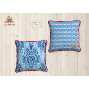 Gevuld Kussen Polyester Happiness Nr.8054 Blauw