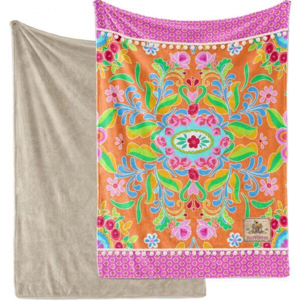Plaid Polyester Happiness Nr.8056 Oranje